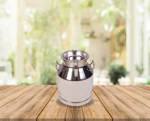 25 Lts Stainless Steel Milk-Olive Oil-Wine Carriage Bucket/Can With SS Locked Lid