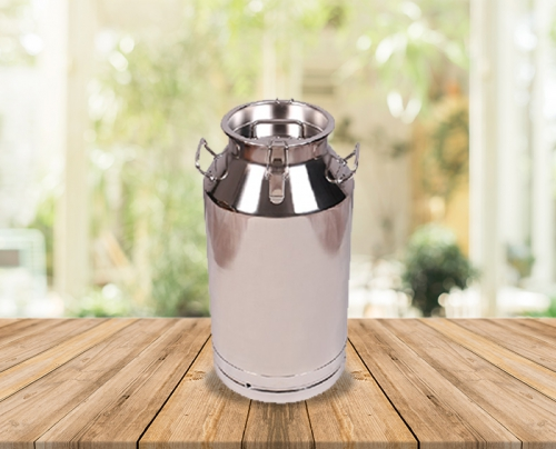 50 Lts Stainless Steel Milk-Olive Oil-Wine Carriage Bucket/Can With SS Locked Lid