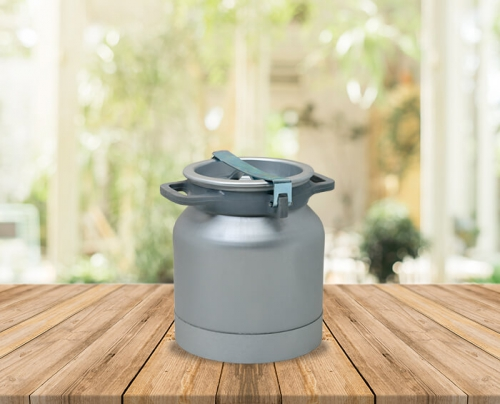 20 Lts Aluminium Carriage Bucket With Alm. Locked Lid