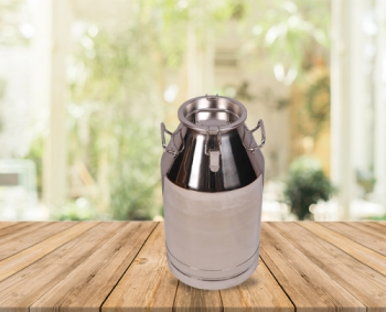 40 Lts Stainless Steel Milk-Olive Oil-Wine Carriage Bucket/Can With SS Locked Lid