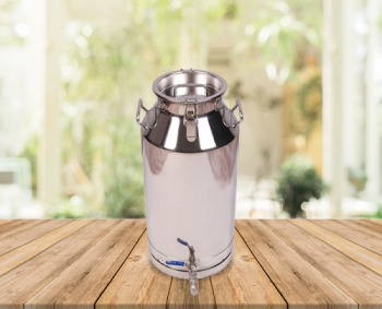 50 Lts Stainless Steel Milk-Olive Oil-Wine Carriage Bucket/Can With SS Locked Lid&Tap