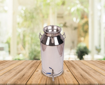 40 Lts Stainless Steel Milk-Olive Oil-Wine Carriage Bucket/Can With SS Locked Lid&Tap